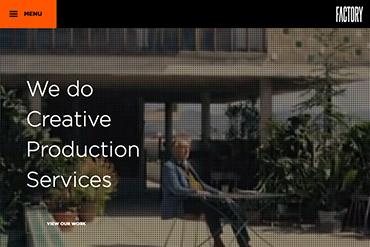 Промо-сайт креативного агентства Factory