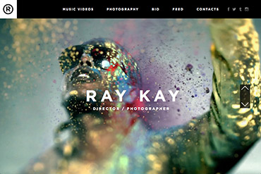 Промо-сайт для режиссера и фотографа Raykay