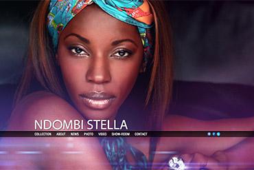 Промо-сайт дизайнера Стеллы Ндомби