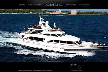 Промо-сайт компании Domaine De Luxe