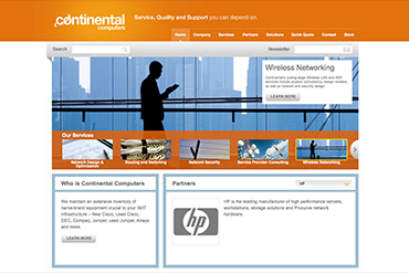 Сайт Continental Computers