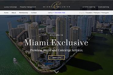 Промо-сайт компании Miami Exclusive